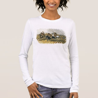 Horse Racing of Sioux Indians near Fort Pierre, pl Long Sleeve T-Shirt