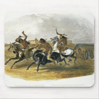 Horse Racing of Sioux Indians near Fort Pierre, pl Mouse Mat