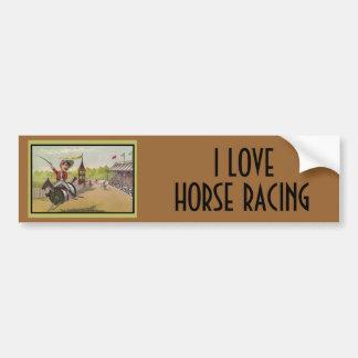 Horse Racing on Thread Spools Bumper Stickers