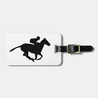 Horse Racing Pictogram Bag Tag