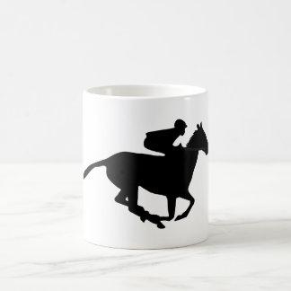 Horse Racing Pictogram Basic White Mug