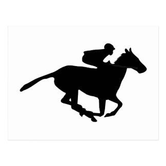 Horse Racing Pictogram Postcard