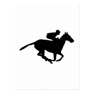 Horse Racing Pictogram Postcard
