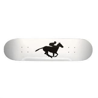 Horse Racing Pictogram Skateboard Deck