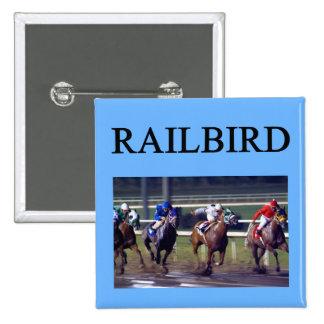 HORSE RACing railbird 15 Cm Square Badge