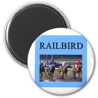 HORSE RACing railbird 6 Cm Round Magnet