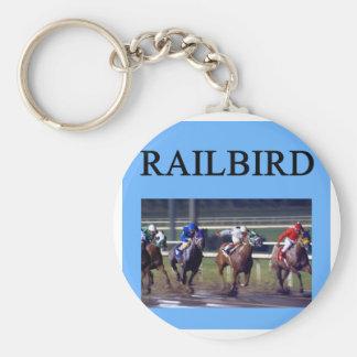 HORSE RACing railbird Basic Round Button Key Ring