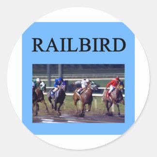 HORSE RACing railbird Round Sticker