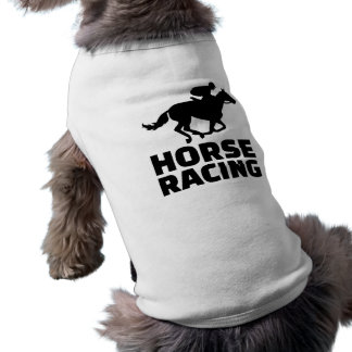 Horse racing sleeveless dog shirt