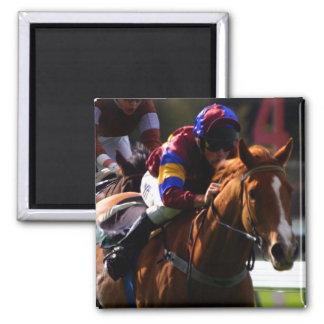 Horse Racing Square Magnet