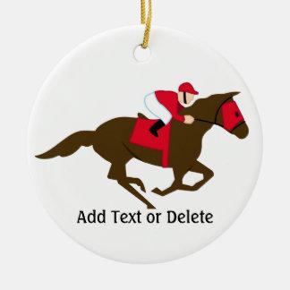 Horse Racing - SRF Round Ceramic Decoration