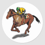 Horse Racing Stickers Round Sticker