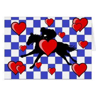 Horse Racing - Valentine`s Day card 2
