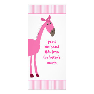 Horse Rackcard with Funny Quote Full Colour Rack Card