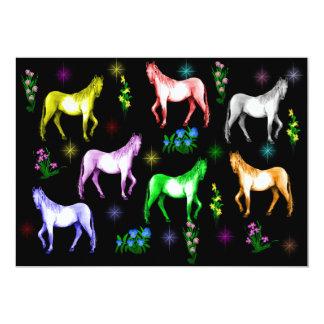 Horse Rainbow 13 Cm X 18 Cm Invitation Card