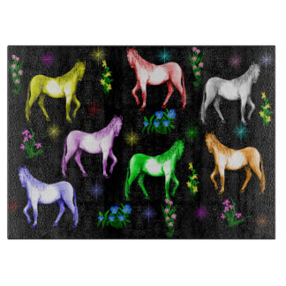 Horse Rainbow Cutting Board