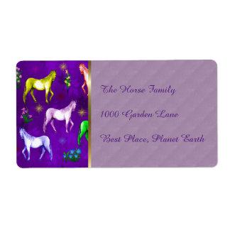 Horse Rainbow Shipping Label