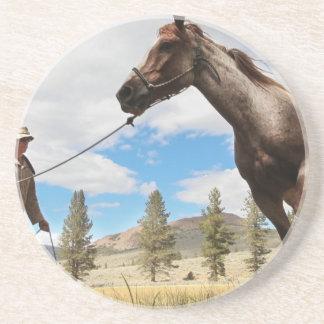Horse Ranch Farm Destiny Nature Background Drink Coasters