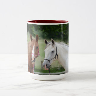 Horse Ranch Farm Destiny Nature Background Two-Tone Coffee Mug