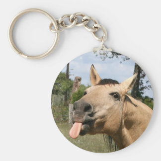 Horse razzberry keychain