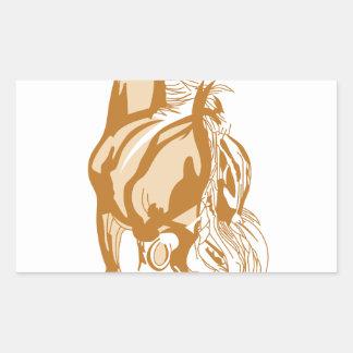 Horse Rear Rectangular Sticker