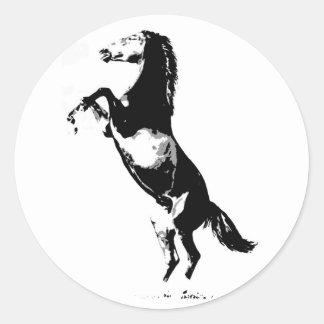 Horse Rearing Round Sticker