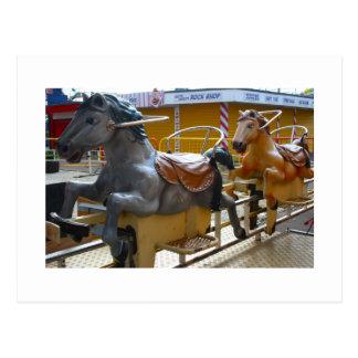 Horse Ride at a Funfair Post Card