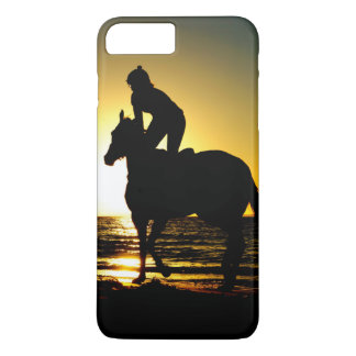 Horse rider beach beautiful scenery iPhone 7 plus case
