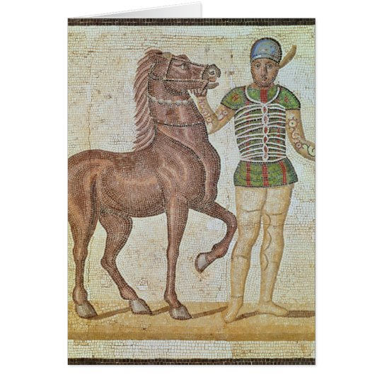 Horse rider in racing colours card