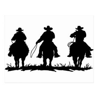 horse riders postcard