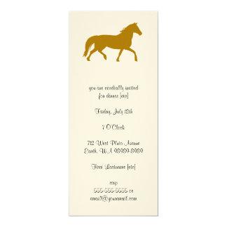 Horse (riding, equestrian) 10 cm x 24 cm invitation card