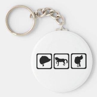 Horse - riding key ring
