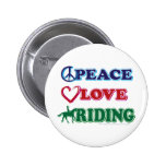 Horse Riding/Peace Love Riding Buttons