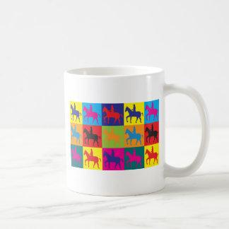 Horse Riding Pop Art Mugs