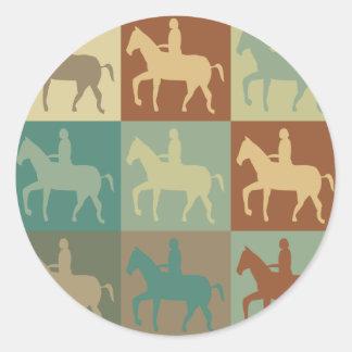 Horse Riding Pop Art Stickers