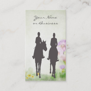 Equestrian business cards business card printing zazzle uk horse riding stable equestrian business cards reheart Gallery