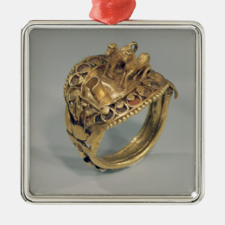 Horse ring (gold and cornelian) christmas ornament