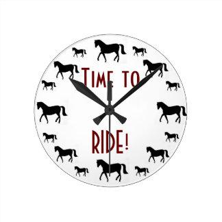 Horse Round Clock