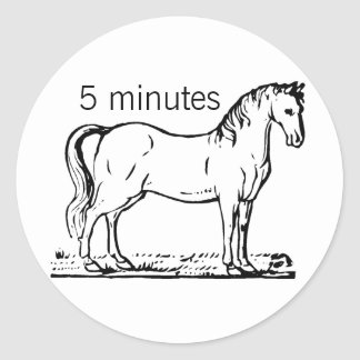 HORSE ROUND STICKER
