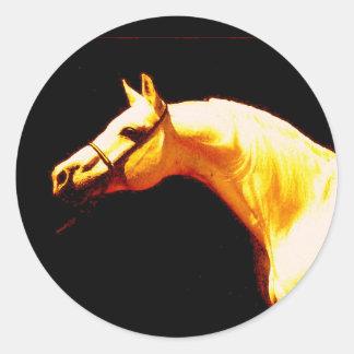 Horse Round Stickers