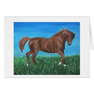 Horse Running Card Blank