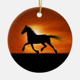 Horse Running Christmas Ornament