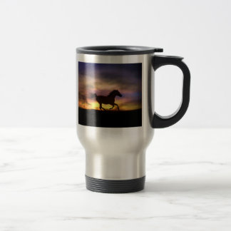 Horse Running Coffee Cup Stainless Steel Travel Mug
