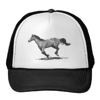 Horse: Running, Galloping: Pencil Drawing Cap
