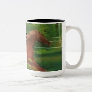 Horse Running Two-Tone Mug