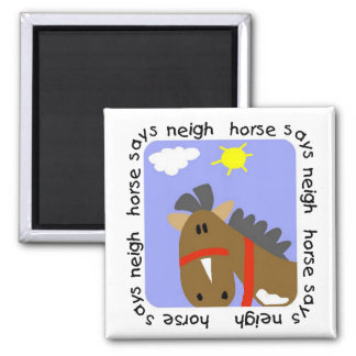Horse Says Neigh Tshirts and Gifts Refrigerator Magnet