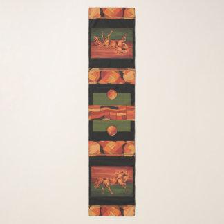 Horse Scarf - Contemporary Style - Orange, Green