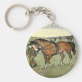 Horse School Key Chain