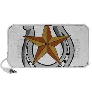 HORSE SHOE AND STAR SPEAKERS