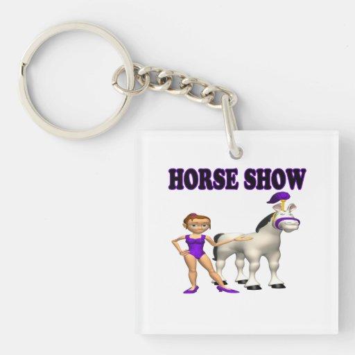 Horse Show 2 Acrylic Keychain